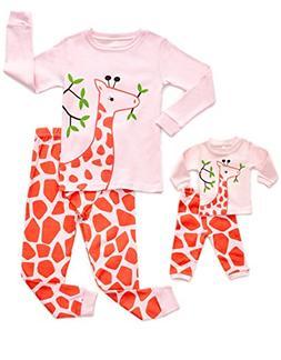 DinoDee Matching Doll Giraffe Pajama 10 Years