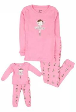 Leveret Ballerina Matching Doll & Girl 2 Piece Pajama Set 10