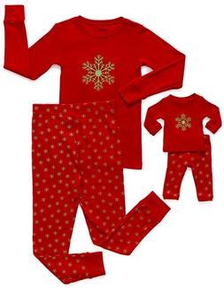 Leveret Snowflake Matching Doll & Girl 2 Piece Pajama Set 10