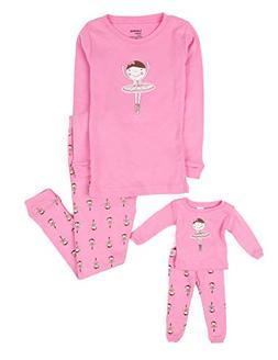 Leveret Ballerina Matching Doll & Girl 2 Piece Pajama Set 10
