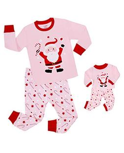 Babyroom Girls Matching Doll&Toddler Christmas 4 Piece Cotto