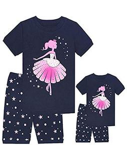 Babyroom Girls Matching Doll&Toddler Dance 4 Piece Cotton Pa
