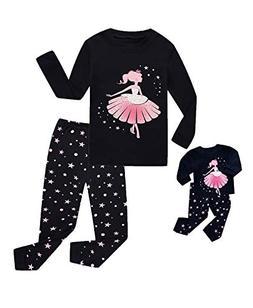 Babyroom Girls Matching Doll&Toddler 4 Piece Long Cotton Chr