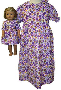 Doll Clothes Superstore Matching Girl Purple Sleepwear Size