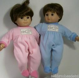 MATCHING Pink Blue Elephant PAJAMA PJs Doll Clothes For Bitt
