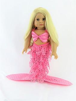 Mermaid Halloween Costume Shell Bikini Top and Sequin Mermai
