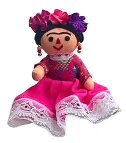 Alkimia Inc Mexican Handmade Frida Rag Doll - 7 inches