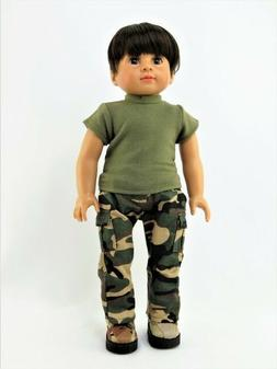 "Army Camo Military Pants 2 PC Set For 18"" American Girl or B"