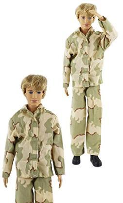 "HongShun Fashion New Style Military Uniform for 12"" Ken Doll"