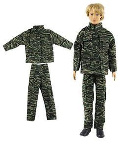 "HongShun Fashion Military Uniform Outfit for 12"" Ken Doll"