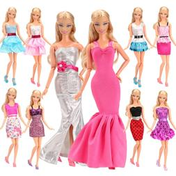 Clothing Shoes BARWA 5pcs Fashion Mini Dress For Barbie Doll