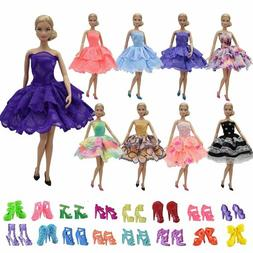 ZITA ELEMENT 5PCS Fashion Mini Summer 11.5 Inch Doll Dress+5