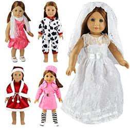 Barwa 5 Pcs Mix Style Clothes Lot Outdoor Dresses Christmas