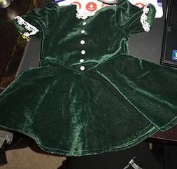American Girl Molly's Evergreen Velvet Christmas Dress for D