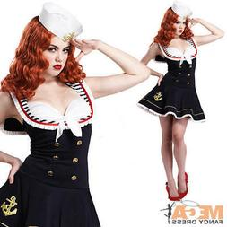 Nautical Sailor Doll Ladies Fancy Dress Sexy Uniform Army Mi