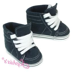 a711363e82b6e Navy High Top Sneakers Fits 18