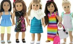 "NEW Pzas Toy 18"" Doll 26 Piece Clothes Set -  - Multi"