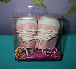 "NEW ADORA 20"" BABY OR TODDLER DOLL PINK/WHITE CASUAL LACE UP"