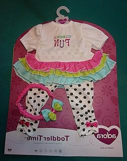"NEW ADORA  20"" DOLL TODDLER TIME CIRCUS FUN OUTFIT"