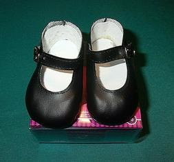 """NEW ADORA 20"""" TODDLER OR BABY BLACK MARY JANE SHOES"""