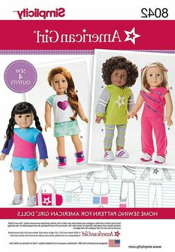"New Simplicity 8042 pattern 18"" American Girl Doll Clothes 4"