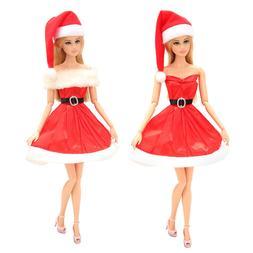 New Arrive Random Handmade Merry Christmas Outfit Dress Red