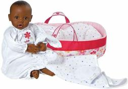 "New! Adora Nurserytime Dark Skin Brown Eyes 16"" AA Black Bab"