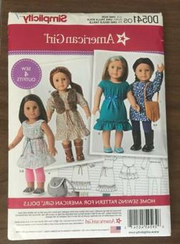 "New Simplicity pattern 8818 for 18"" American Girl Doll cloth"