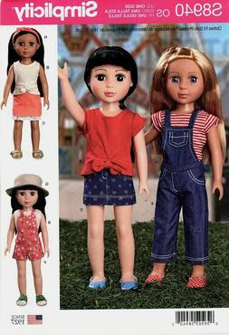 """New Simplicity  8940 pattern for 14"""" Doll Clothes top skirt"""