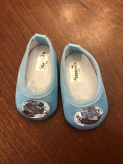 """Navy Blue Slip on Sneakers Flats Shoes Fits 18/"""" American Girl Boy Doll"""