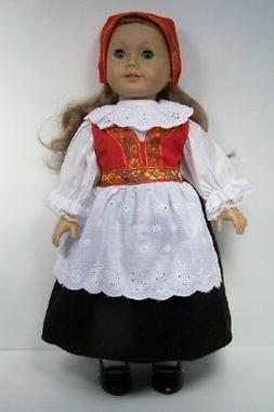 Norwegian Norway National Costume Dress Doll Clothes For 18