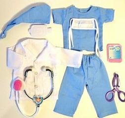 NURSE, SCRUBS, DOCTOR fits American Girl Doll, 18 Inch Doll