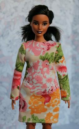 №244 Clothes for Curvy Barbie Doll Blouse and Leggings for Dolls.