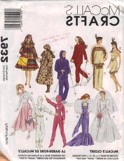 """OOP McCall's Pattern 7932. Clothes for 11 1/2"""" Fashion Doll"""