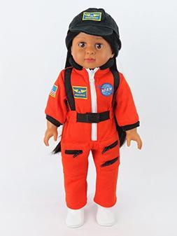 "Orange Astronaut Space Suit | Fits 18"" American Girl Dolls,"