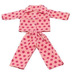 MagiDeal Pajamas Set Dot Pattern PJs Sleepwear Doll Clothes