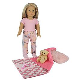 PZAS Toys 18 Inch Doll Clothes - Doll Bed Time Set Includes