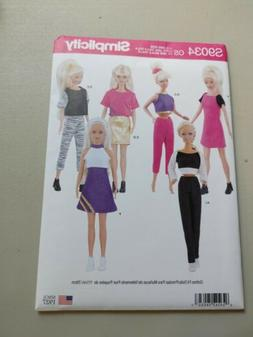 Simplicity pattern, 11 1/2 inch doll clothes, sewing pattern