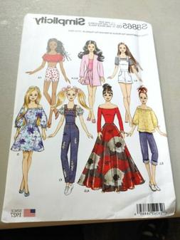 simplicity pattern, 11 1/2 inch doll clothes sewing patterns