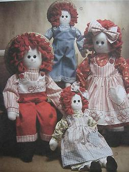 Pattern McCall's 3139 Stuffed Cloth Rag Dolls & Clothes 16