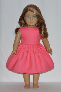 Perfect Pink Color Doll Dress Clothes Fits American Girl Dol