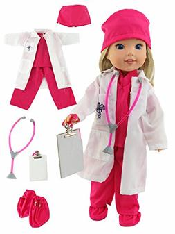 """American Fashion World Hot Pink Doctor Outfit 