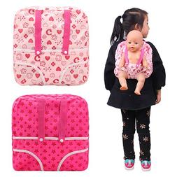Barwa 2PCS Pink Doll Backpack Carrier with Pocket Doll Acces