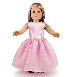 Ebuddy Pink Fashion Doll Long Dresses Clothes Fits 18 Inch D
