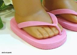 "PINK Flip-Flops DOLL SANDALS SHOES fit 18"" AMERICAN GIRL Dol"