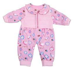 Ebuddy Pink Flower Printed Rompers Suit Doll Clothes For 16