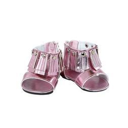 Adora Pink Fringe Open Toe Sandal