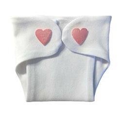 Jacqui's Baby Girl Pink Hearts Diaper Cover, Micro Preemie