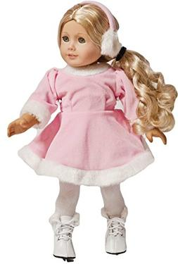 Enchanting Pink Skating 18-inch Doll Outfit with Ice Skates