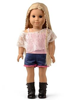 Sweet Dolly Doll Clothes Pink Lace Shirt & Tank Top & Shorts